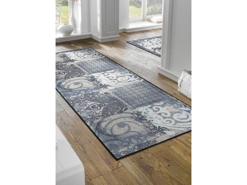 Tapis pour couloir arabesque tx gris 75 x 190 cm paillassons par ...