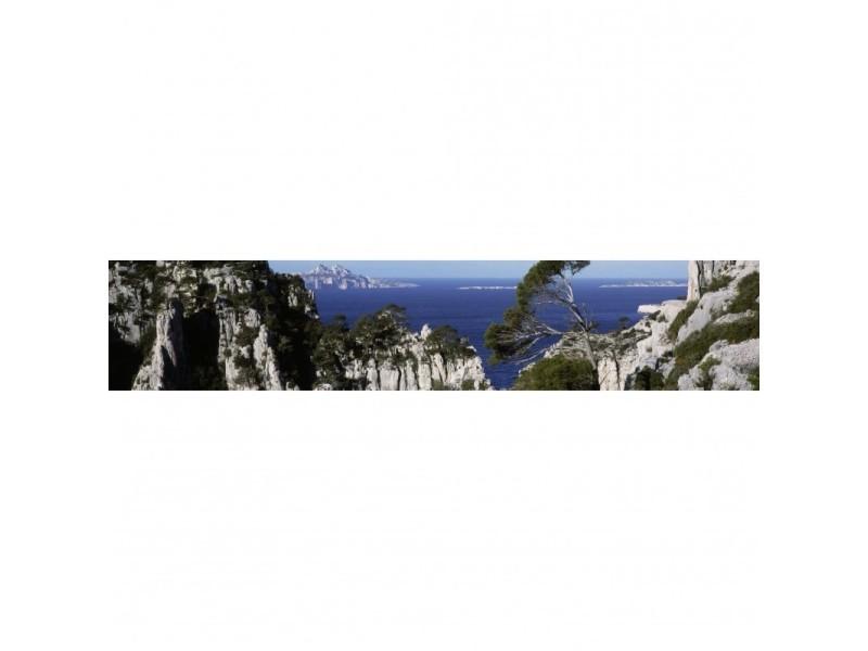Brise vue 80% occultant calanques 500 x 100 cm - décoration extérieure brise vent de jardin, balcon ou terrasse