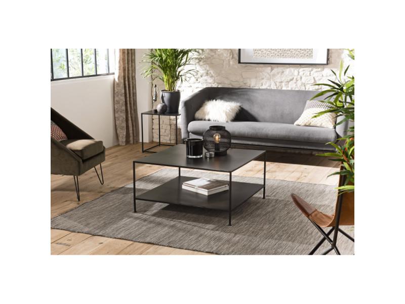 Table basse carrée métal industrielle