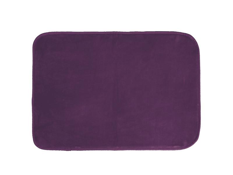 tapis velours louna 120x170 violet prune vente de doucceur d interieur conforama. Black Bedroom Furniture Sets. Home Design Ideas