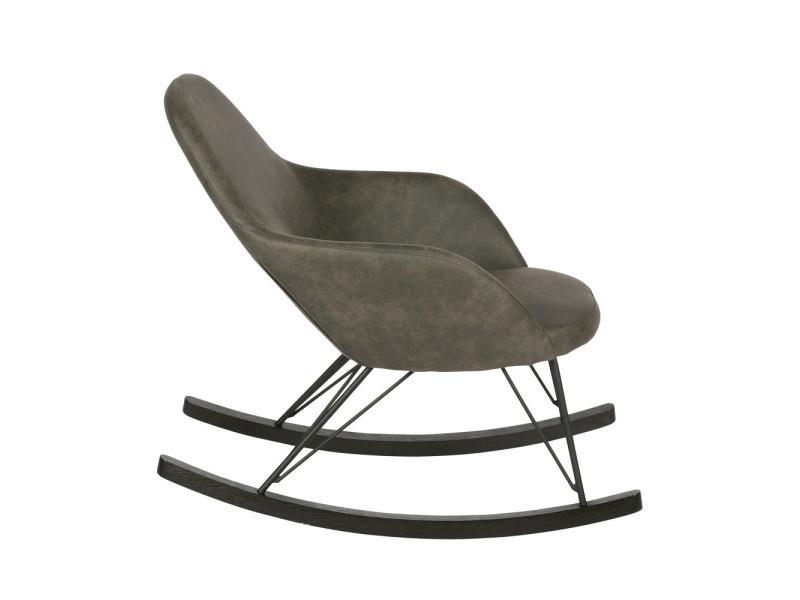 rocking chair vintage rock couleur noir 800582 z conforama. Black Bedroom Furniture Sets. Home Design Ideas