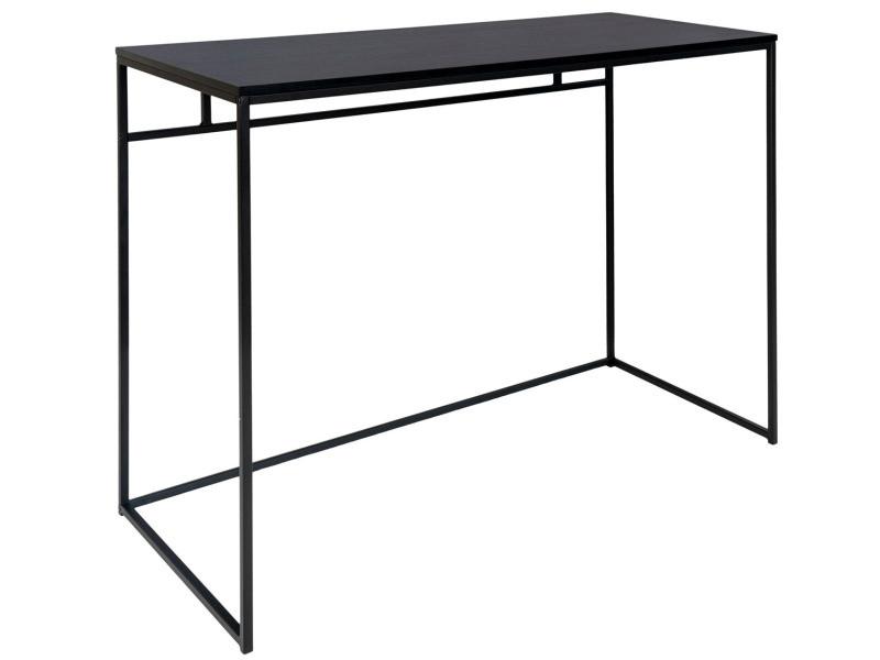 Bureau en acier et bois coloris noir - 100 x 45 x 75 cm -pegane-