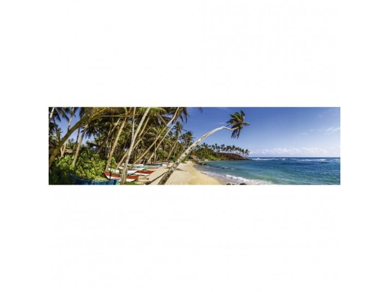 Brise vue 80% occultant plage des pêcheurs 300 x 80 cm - décoration extérieure brise vent de jardin, balcon ou terrasse