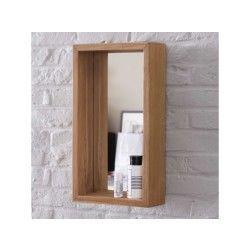Miroir en teck stelle 55x30