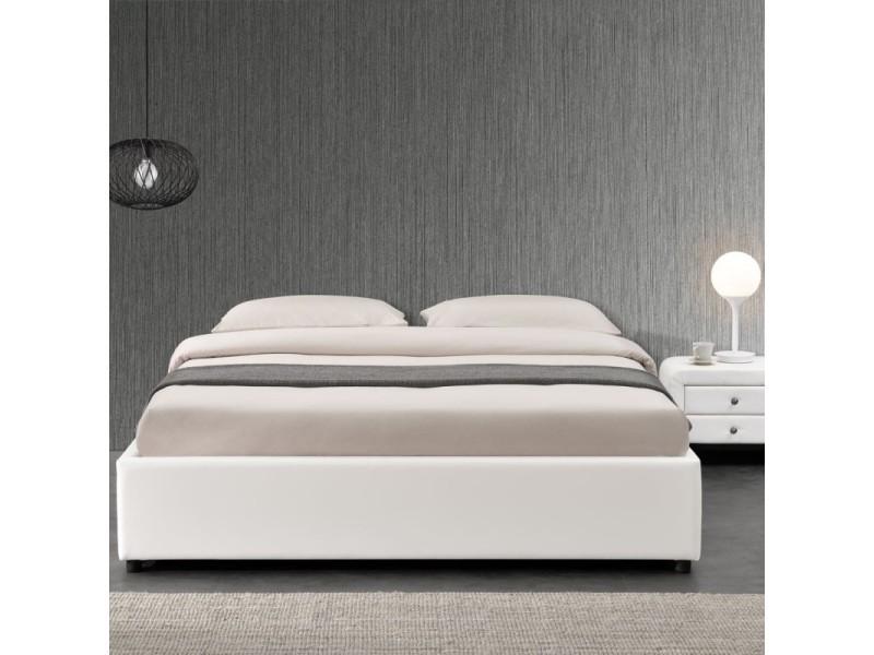 ensemble matelas sommier coffre 140 blanc vente de meubler design conforama. Black Bedroom Furniture Sets. Home Design Ideas