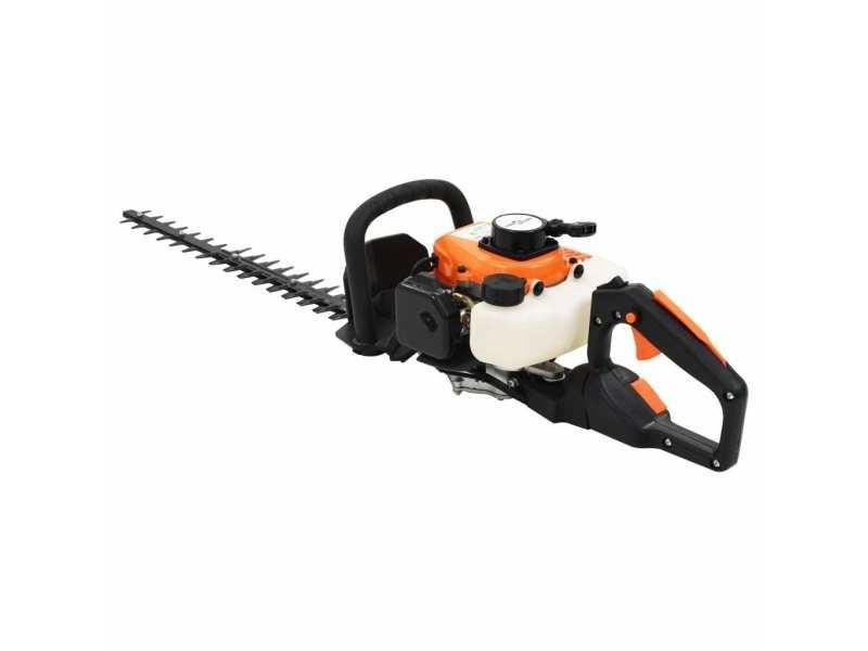 Vidaxl taille-haie à essence 722 mm orange et noir 144010