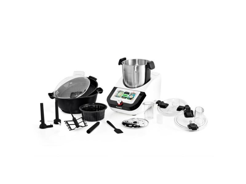 Robot cuiseur multifonction 800w 12 vitesses 100 recettes et ecran tactile 7 pouces cuisio x by kitchencook