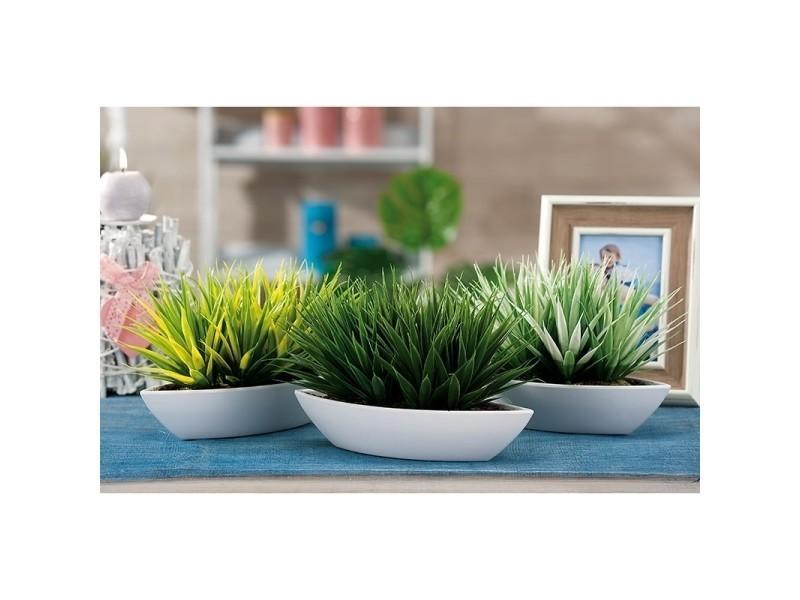 Plante artificielle - 26 x 10 x 18 cm - vert