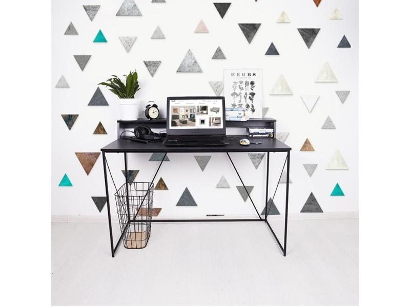 Bureau industriel design - GRAPHALA - 120 cm - anthracite / noir - style loft
