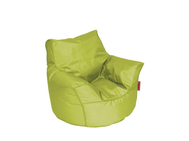 pouf fauteuil enfant piccolo couleur vert pic420lim conforama. Black Bedroom Furniture Sets. Home Design Ideas