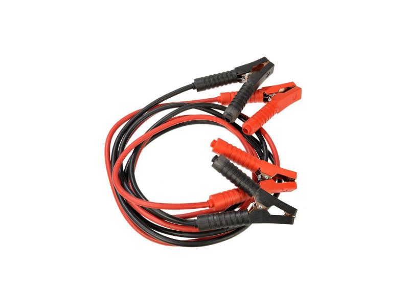 Cable de démarrage auto - vendu par 2 rouge 250 cm