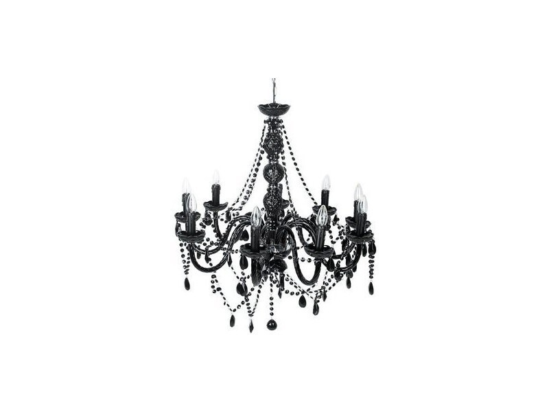Lustre baroque noir 9 bras 20100832714 vente de lampadaire conforama