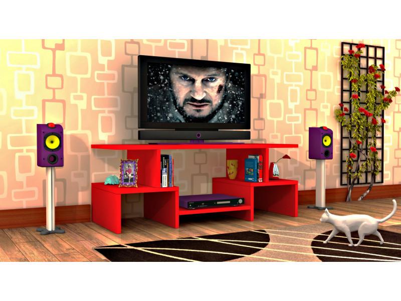 Meuble tv design twist4 rouge