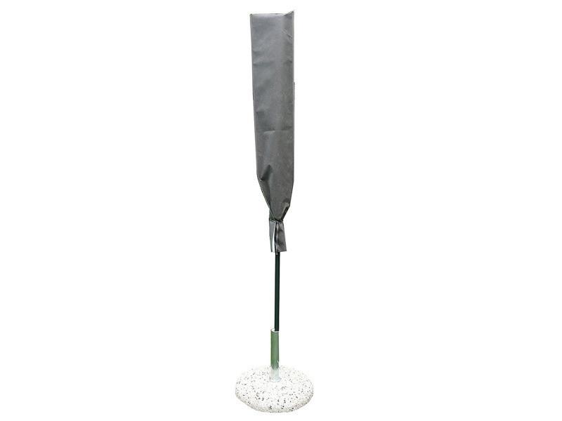 Housse de protection pour parasol coloris taupe - dim : 140x30 cm - pegane -
