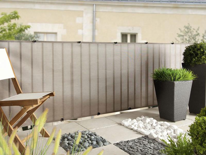 Brise vue pour clôture everly en rouleau 1.00 x 5 m gris nortene 174022