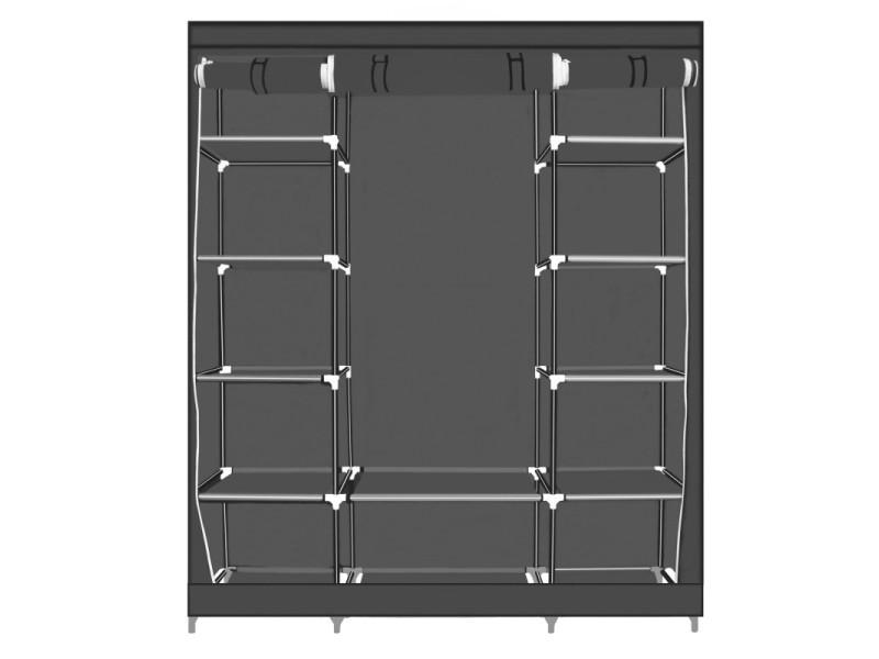 Herzberg hg-8009: armoire de rangement - grande gris