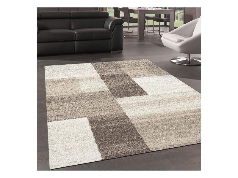 tapis design et moderne 80x250 cm rectangulaire culham beige couloir adapte au chauffage par le sol