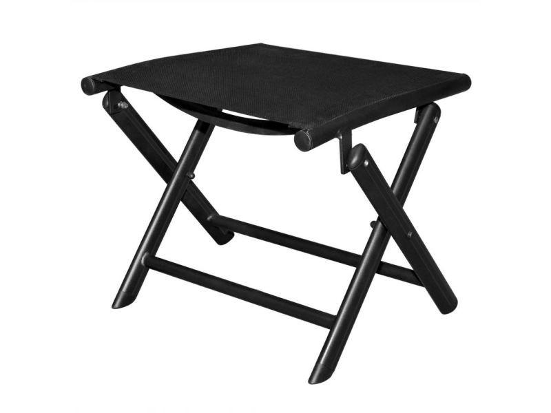Icaverne - chaises pliantes et tabourets pliants categorie repose-pied pliable 41 x 49,5 x 38 cm aluminium noir