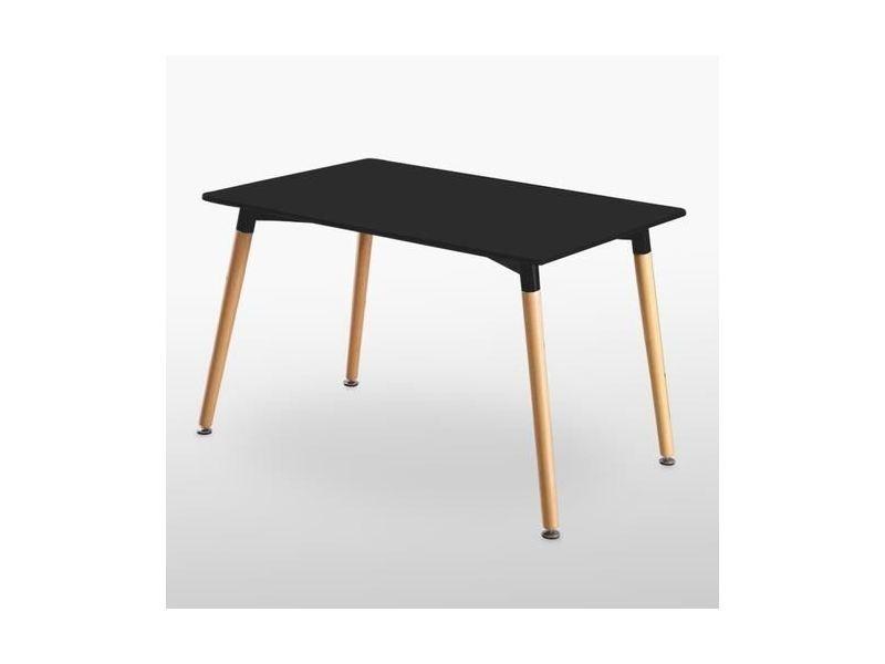 Table noire & 4 chaises gris foncé en tissu olivia Vente