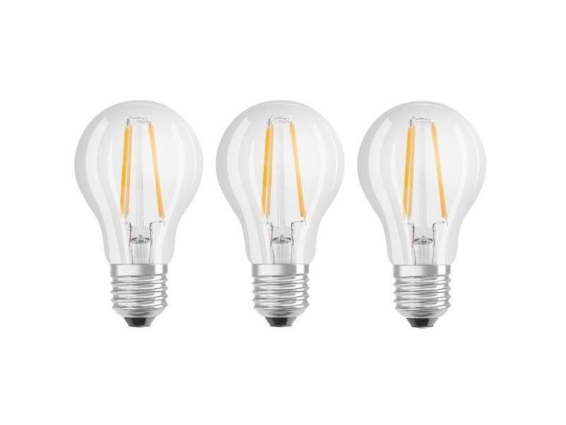 Ampoule - ampoule led - ampoule halogene lot de 3 ampoules led e27 standard claire 7 w équivalent a 60 w blanc chaud