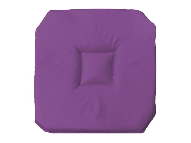 coussin galette de chaise 4 rabats 36 x 36 cm prune vente de housse et galette de chaise. Black Bedroom Furniture Sets. Home Design Ideas
