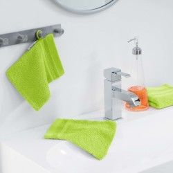 Lot de 2 gants de toilette 15 x 21 cm vert