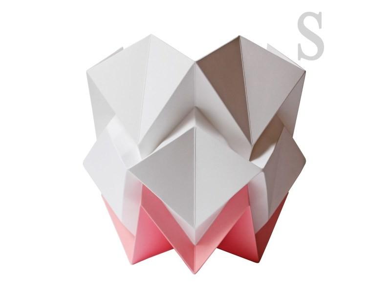 Lampe De Table Origami Design En Papier Vente De Lampe Conforama