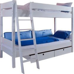 lit superpos et mezzanine blanc conforama. Black Bedroom Furniture Sets. Home Design Ideas