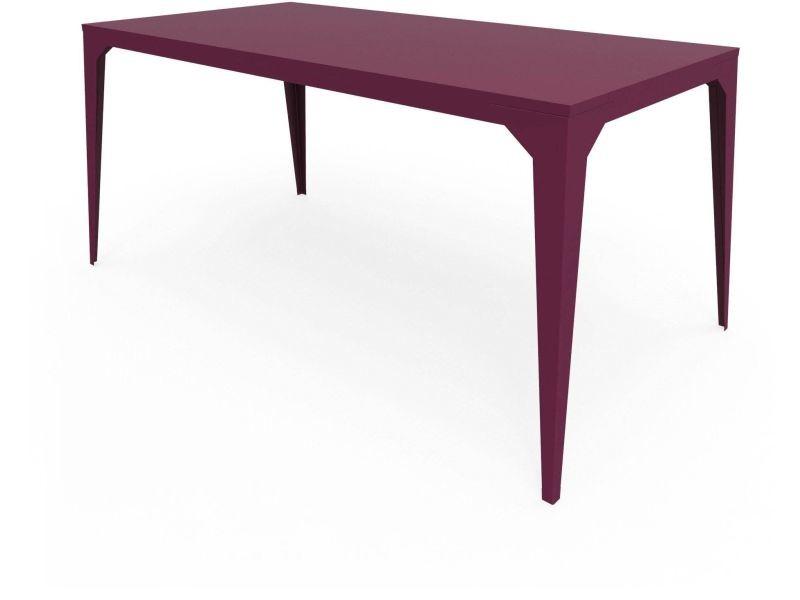 Table cuatro violet prune Ta_CUA_Rect160x80_h75_Pru