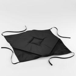 Coussin galette de chaise 36 x 36 x 3.5 cm noir essentiel