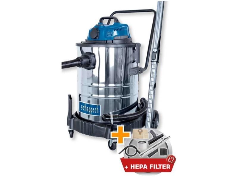 Aspirateur eau et poussiere 50l 1400w avec prise synchrone 200w + une brosse combinée, un suceur plat, un filtre mo… SCH4046664068648