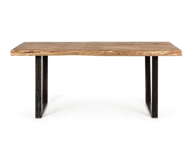 Table en bois massif et métal - connemara