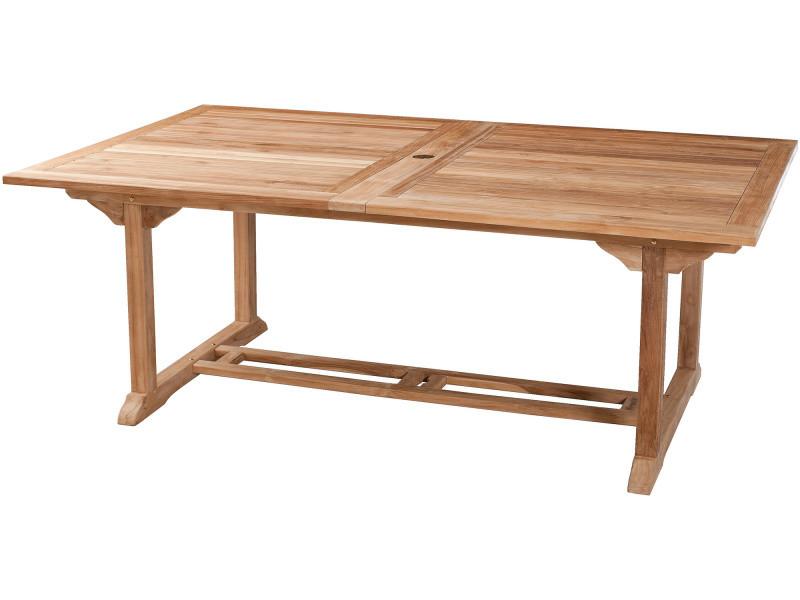 Table de jardin extensible 200 - 300 cm en bois de teck massif ...