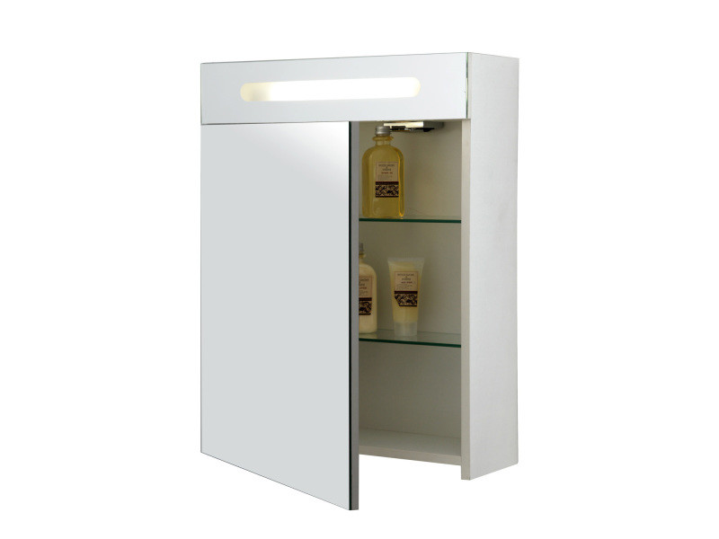 Armoire pharmacie sopran 39 02 bois vente de allibert for Armoire salle de bain allibert