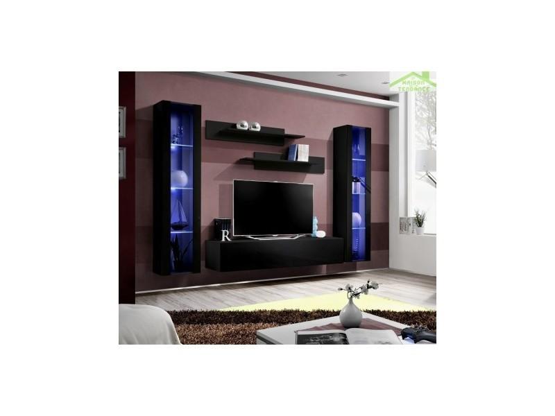 ensemble meuble tv suspendre fly a avec led 260x190x40 cm 23 zz fy a2 vente de asm conforama. Black Bedroom Furniture Sets. Home Design Ideas
