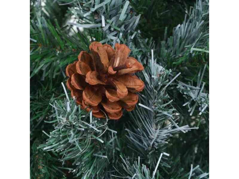 Icaverne - décorations de noël et saisonnières reference arbre de noël artificiel avec pommes de pin 150 cm
