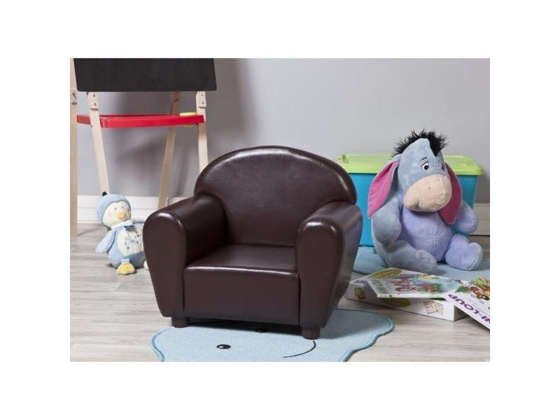 Fauteuil fauteuil enfant club - simili chocolat - contemporain - l 52 x p 40 cm