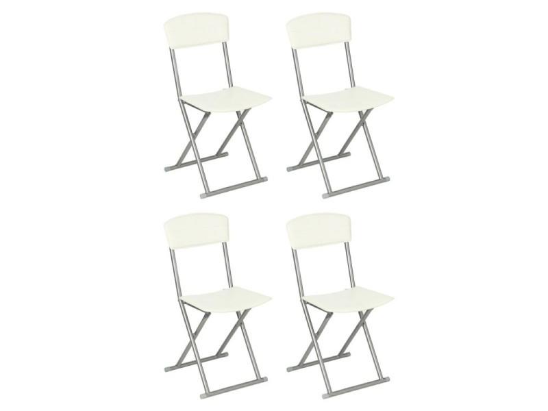 Lot de 4 chaises pliantes \