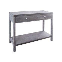 Console 1 tiroir folkdream - 100 x 80 cm - gris
