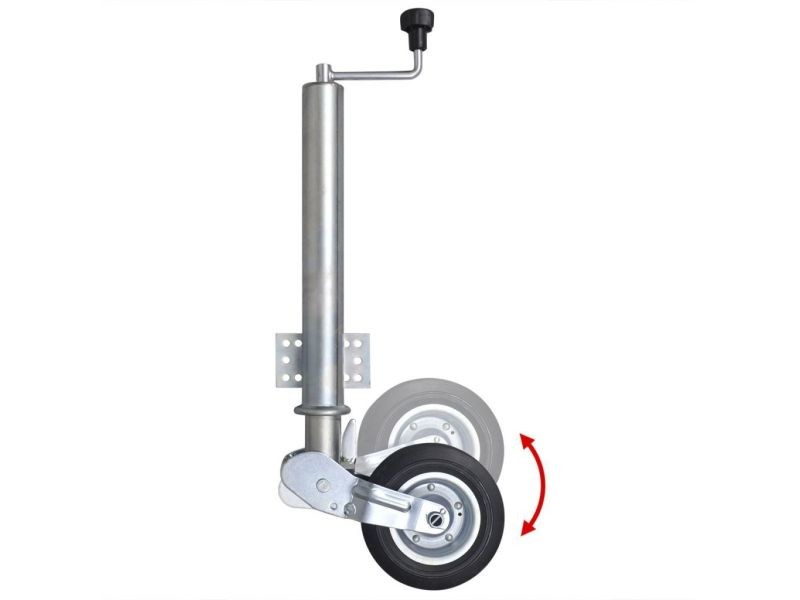 Icaverne - remorques utilitaires et de chargement ligne 60 mm roue jockey pliante
