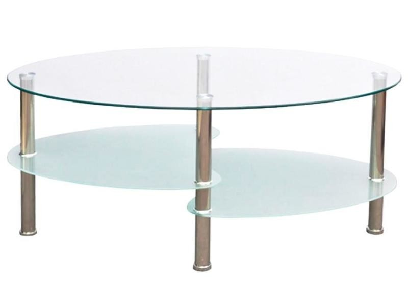 Table basse de salon salle à manger design blanche verre 90 x 45 cm helloshop26 0902001