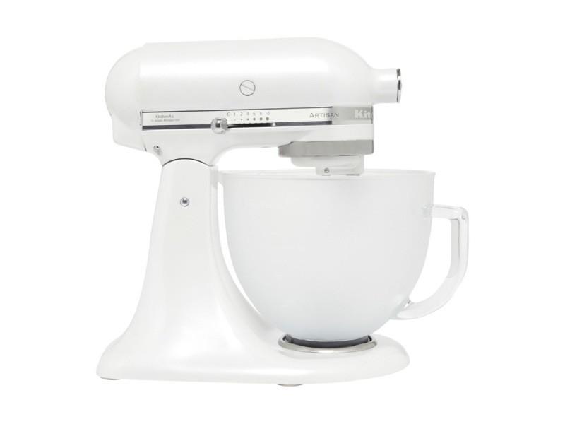 Kitchenaid robot pétrin artisan blanc givré 5ksm156efp
