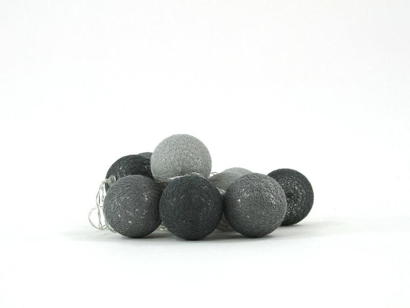 Atmosphera - guirlande led à piles 10 boules d6