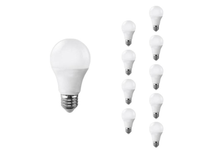 Ampoule e27 led 9w 220v a60 180° (pack de 10) - blanc froid 6000k - 8000k