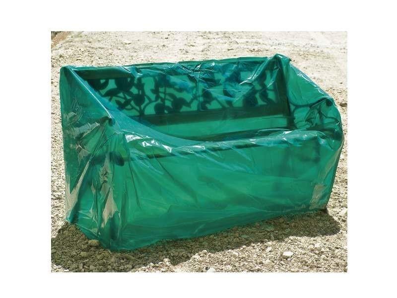 Bâches et protections housse luxe banc de jardin 1.5 m. Film polyéthylène 100 microns. Coloris vert