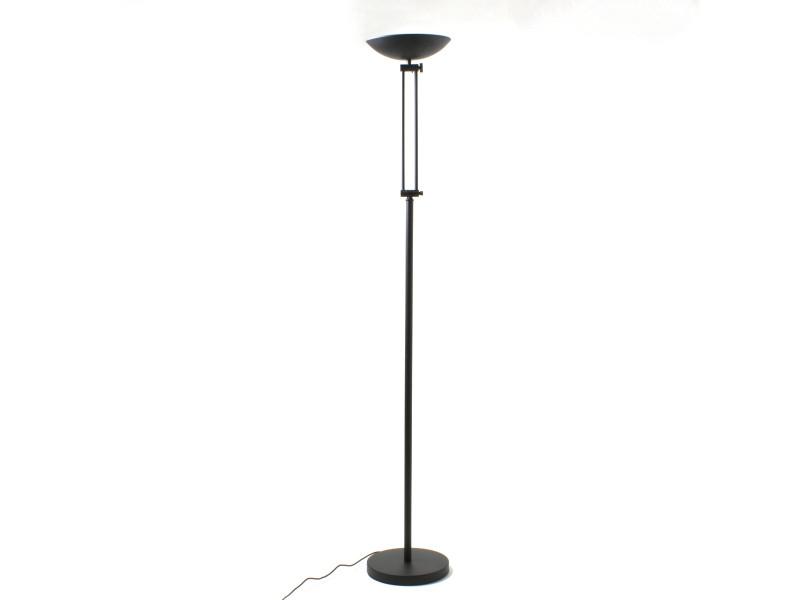 lampadaire halog ne isa noir en m tal vente de keria luminaires conforama. Black Bedroom Furniture Sets. Home Design Ideas