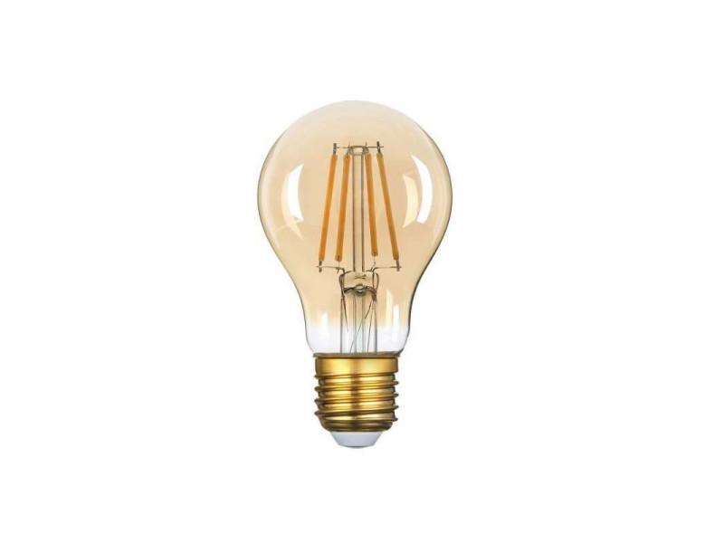 Ampoule led a60 filament 8w golden glass dimmable e27 blanc très chaud 2500k SP1324