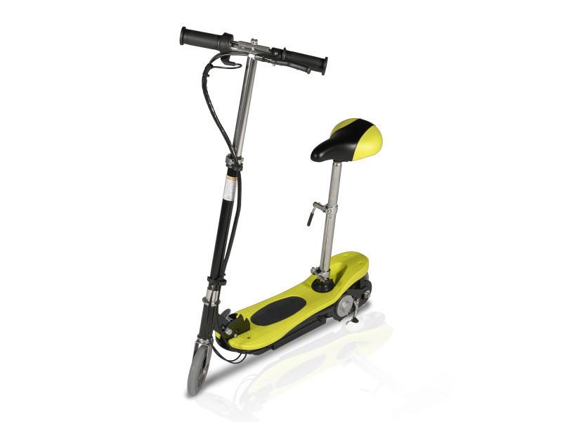 Trottinette électrique avec siège, pliable piki 120 watts - jaune