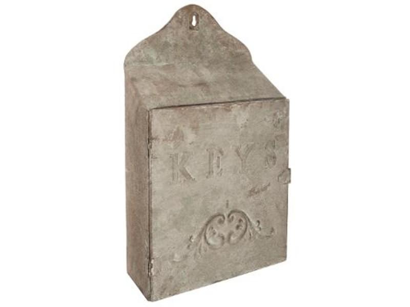 Boîte à clé garden - l 24 x l 9 x h 39 cm - fer - beige