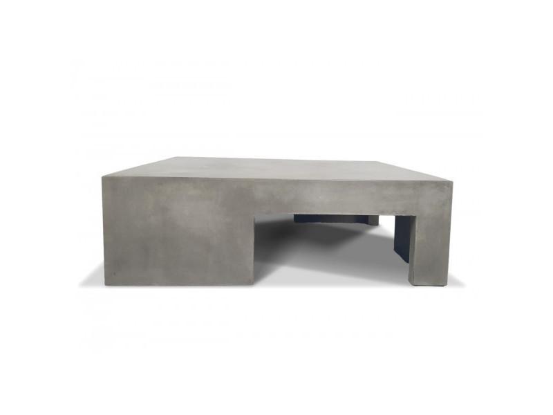 Beton - table basse carrée cubic